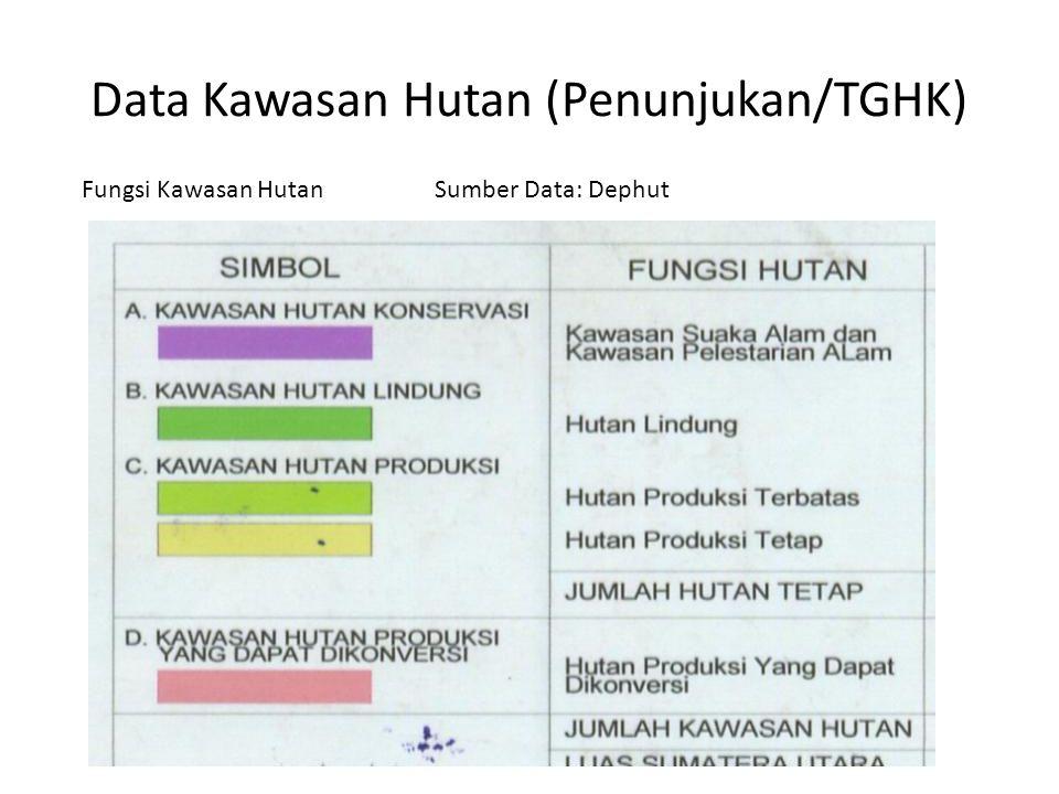 Data Kawasan Hutan (Penunjukan/TGHK)