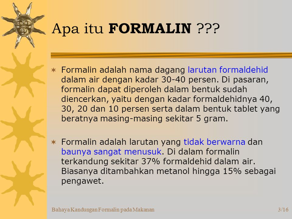 Apa itu FORMALIN