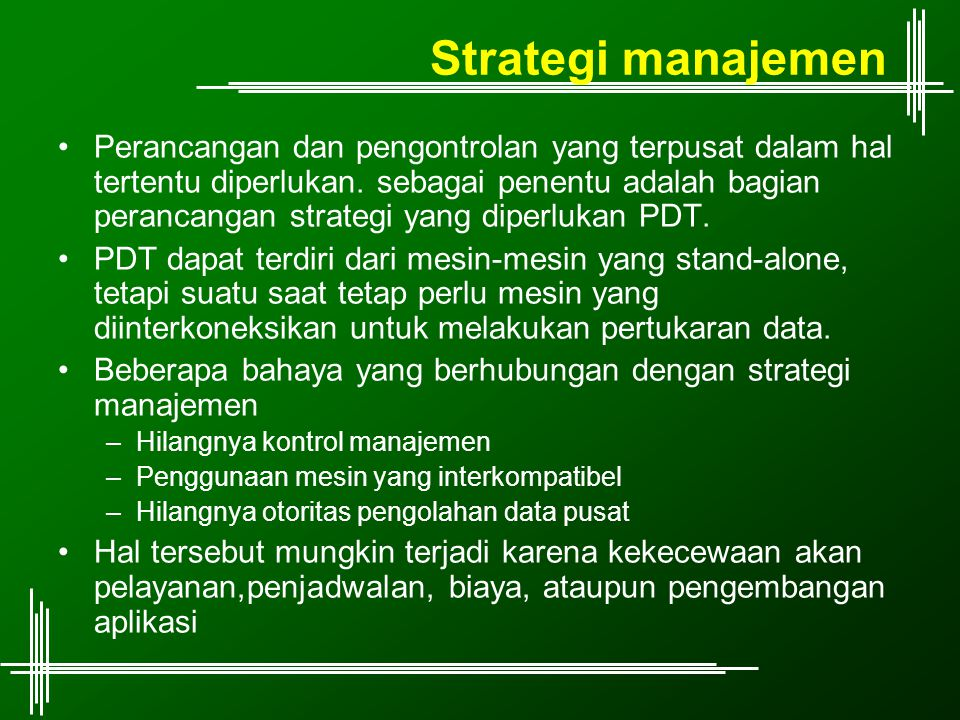 Strategi manajemen