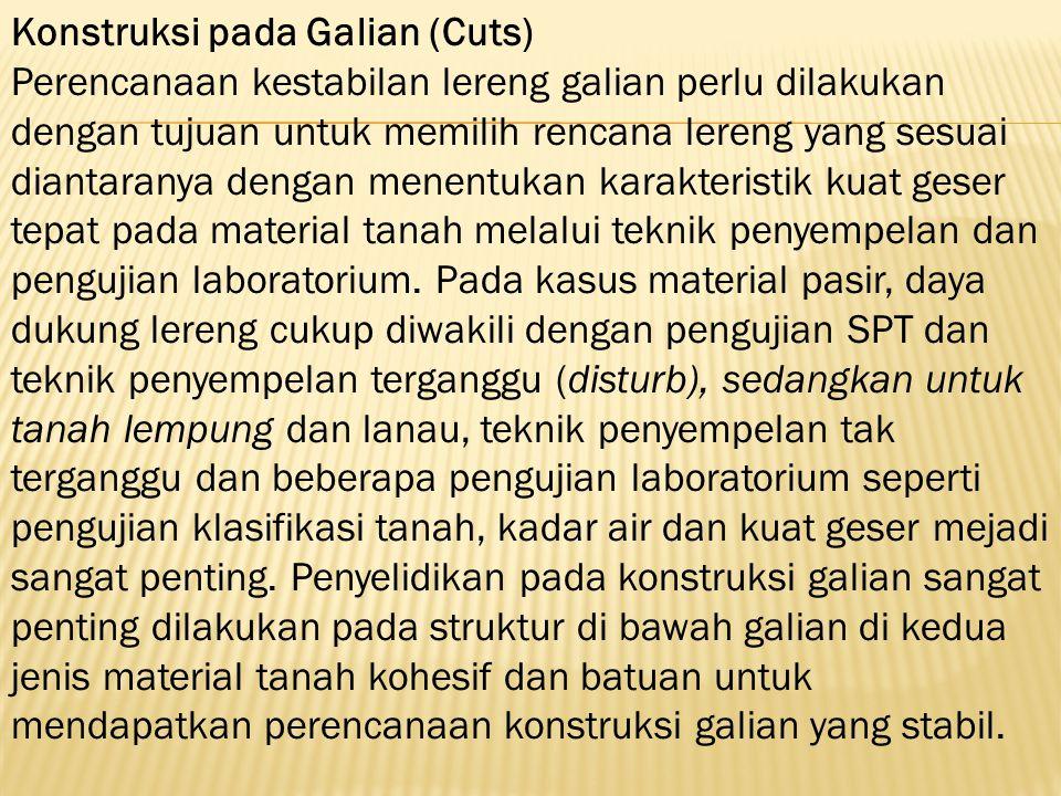 Konstruksi pada Galian (Cuts)