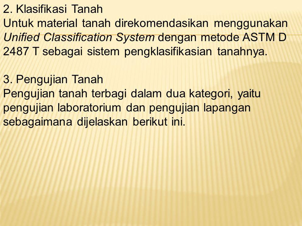 2. Klasifikasi Tanah