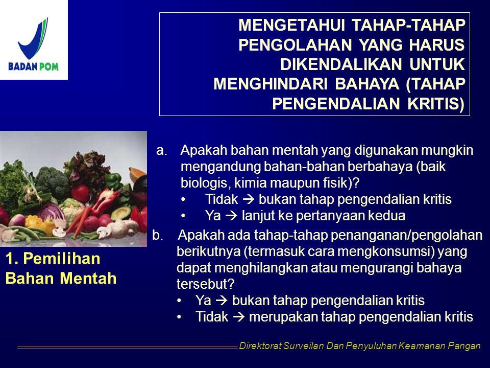 MENGETAHUI TAHAP-TAHAP PENGOLAHAN YANG HARUS DIKENDALIKAN UNTUK MENGHINDARI BAHAYA (TAHAP PENGENDALIAN KRITIS)