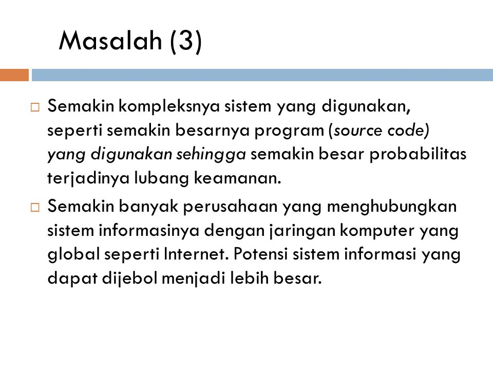 Masalah (3)