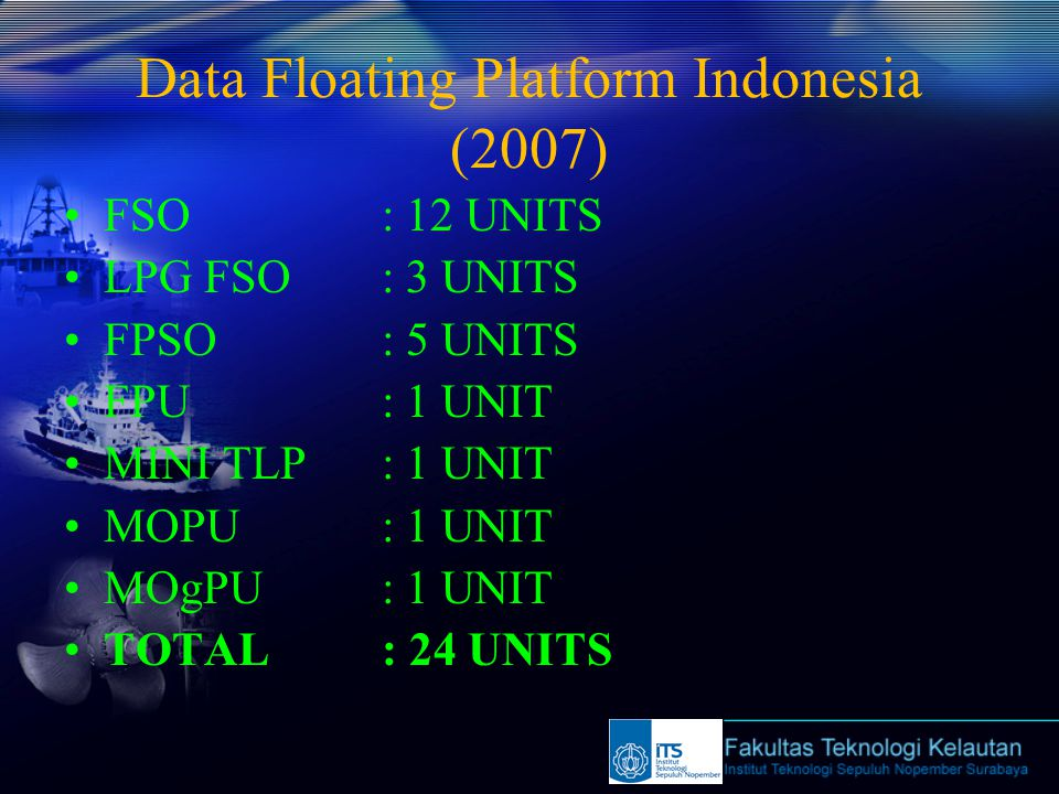 Data Floating Platform Indonesia (2007)