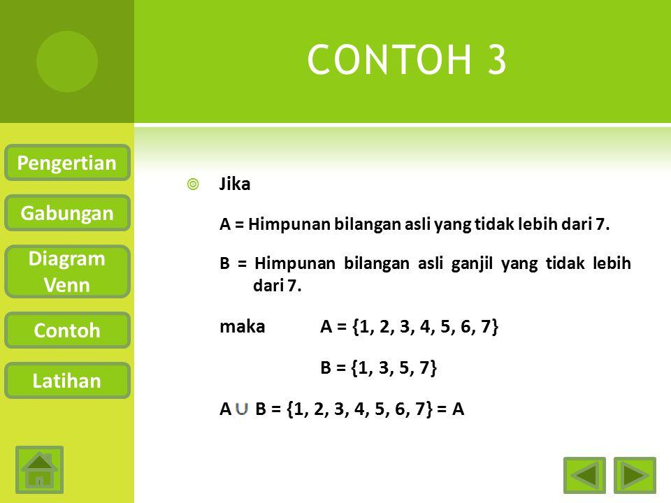 CONTOH 3 Pengertian Gabungan Diagram Venn Contoh Latihan Jika
