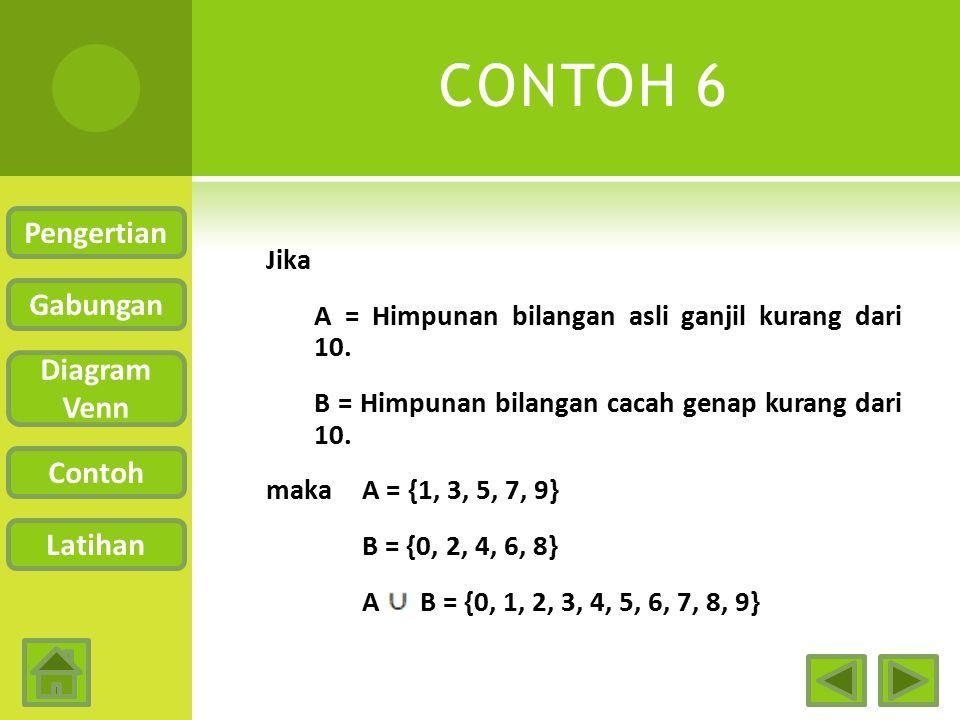 CONTOH 6 Pengertian Gabungan Diagram Venn Contoh Latihan