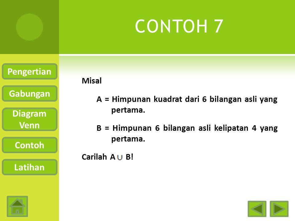 CONTOH 7 Pengertian Gabungan Diagram Venn Contoh Latihan
