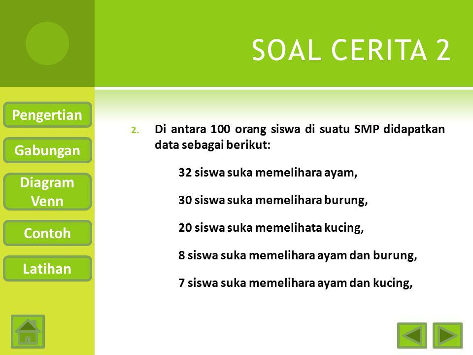 SOAL CERITA 2 Pengertian Gabungan Diagram Venn Contoh Latihan