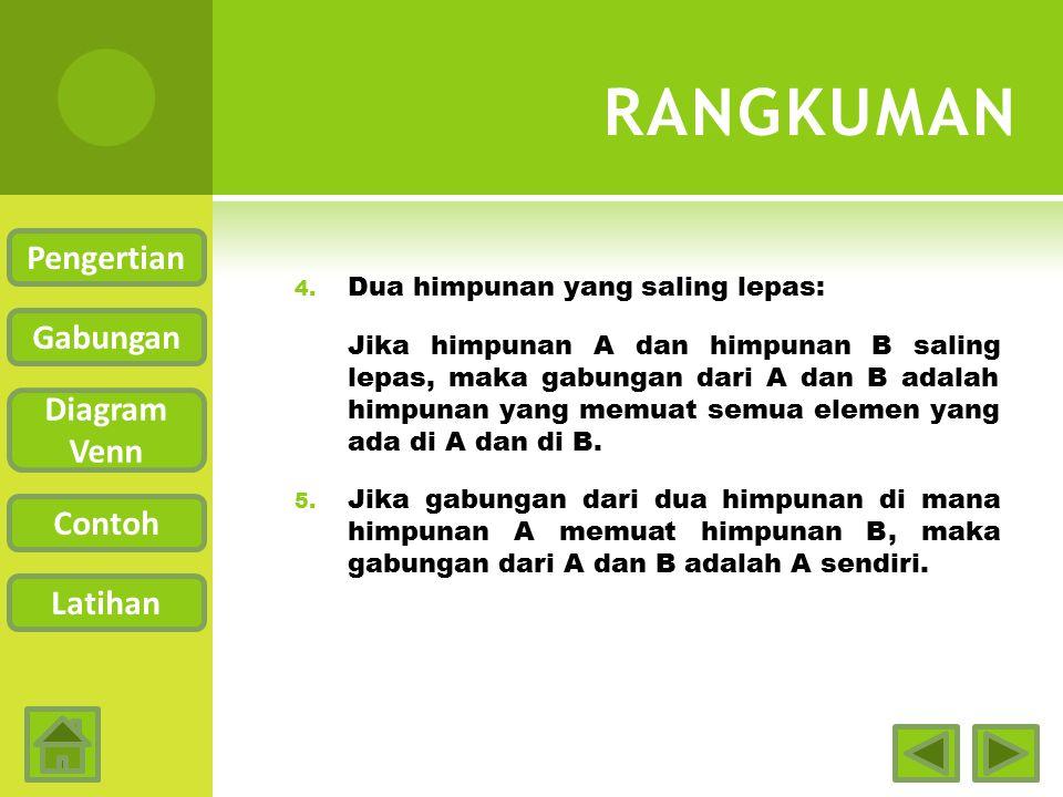 RANGKUMAN Pengertian Gabungan Diagram Venn Contoh Latihan