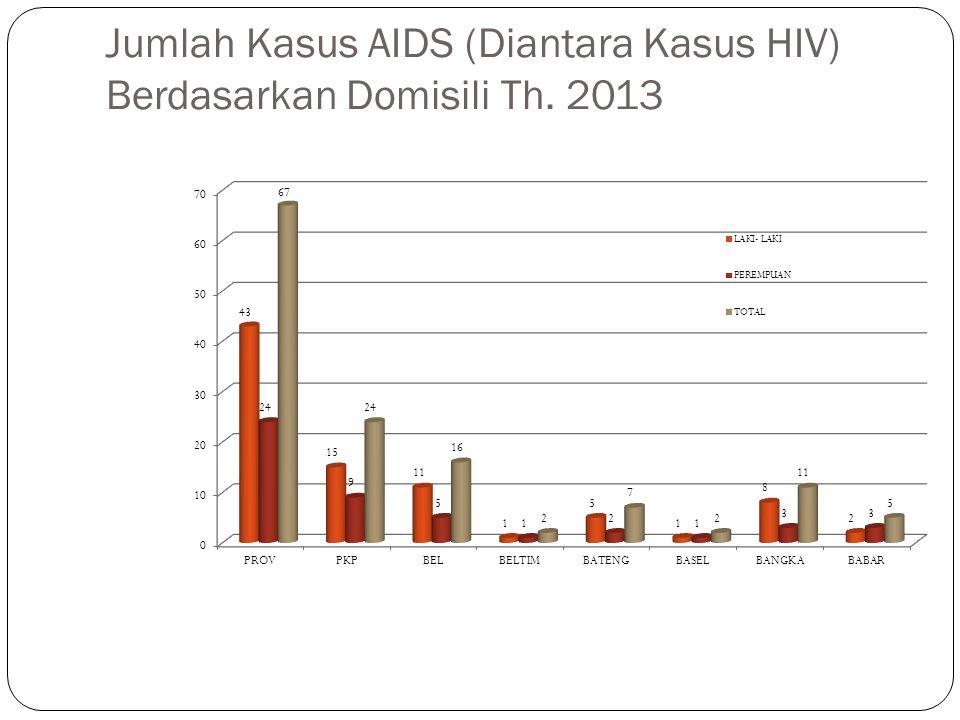 Jumlah Kasus AIDS (Diantara Kasus HIV) Berdasarkan Domisili Th. 2013