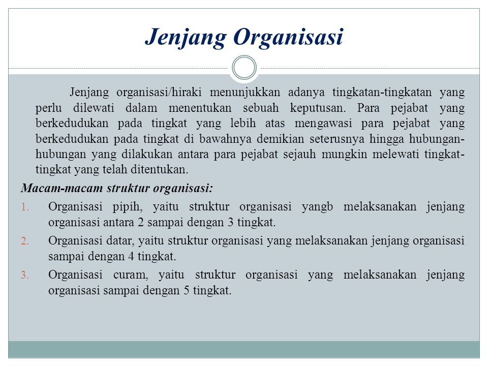 Jenjang Organisasi
