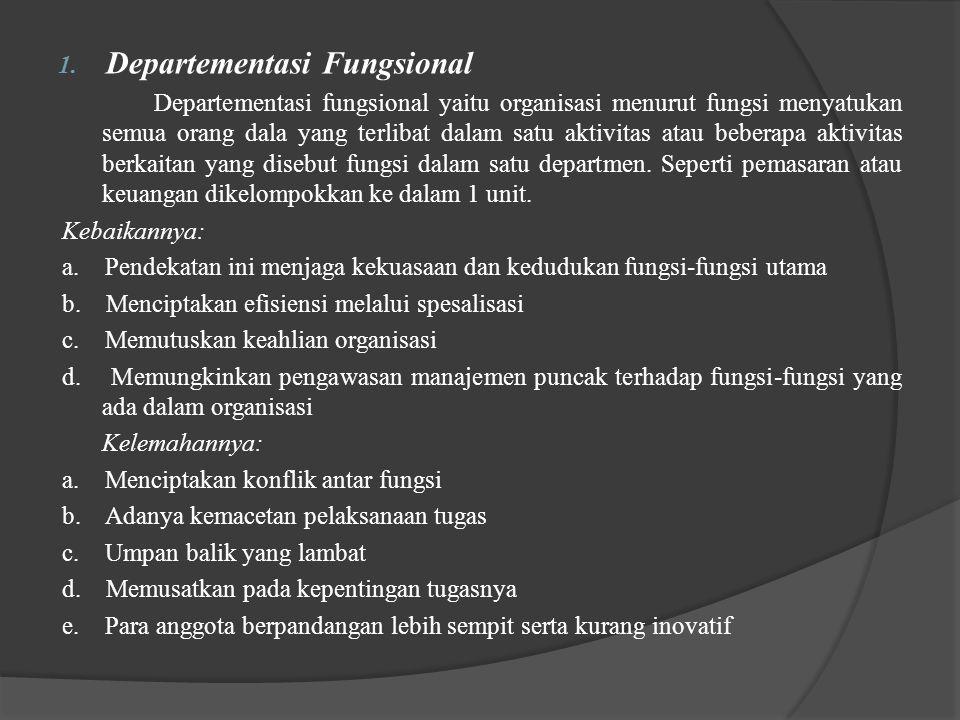 Departementasi Fungsional