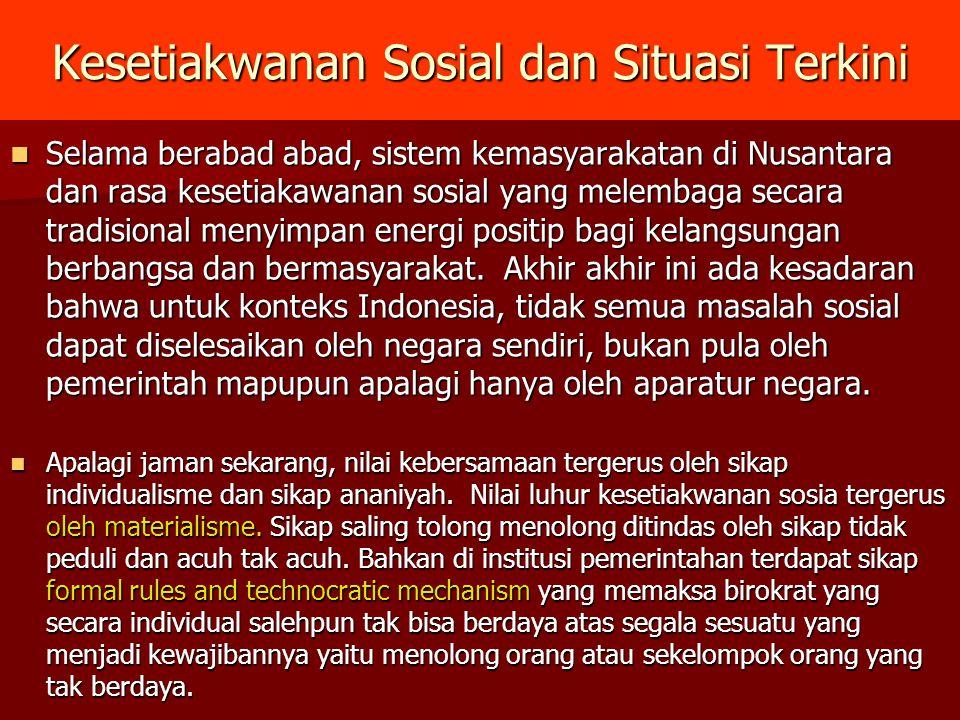 Kesetiakwanan Sosial dan Situasi Terkini