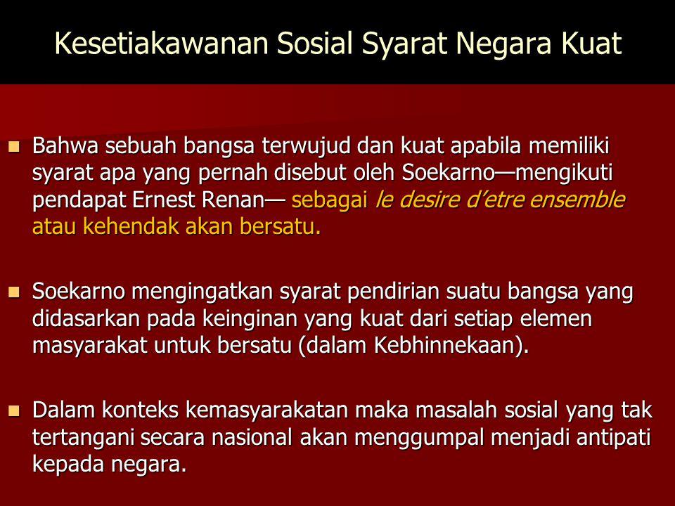 Kesetiakawanan Sosial Syarat Negara Kuat