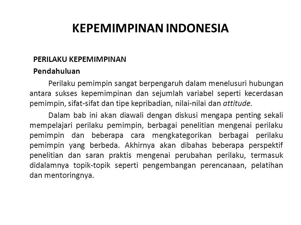 KEPEMIMPINAN INDONESIA