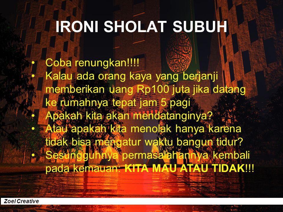 IRONI SHOLAT SUBUH Coba renungkan!!!!