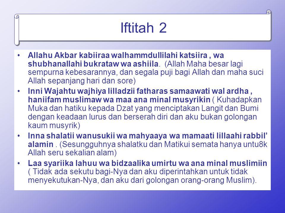 Iftitah 2