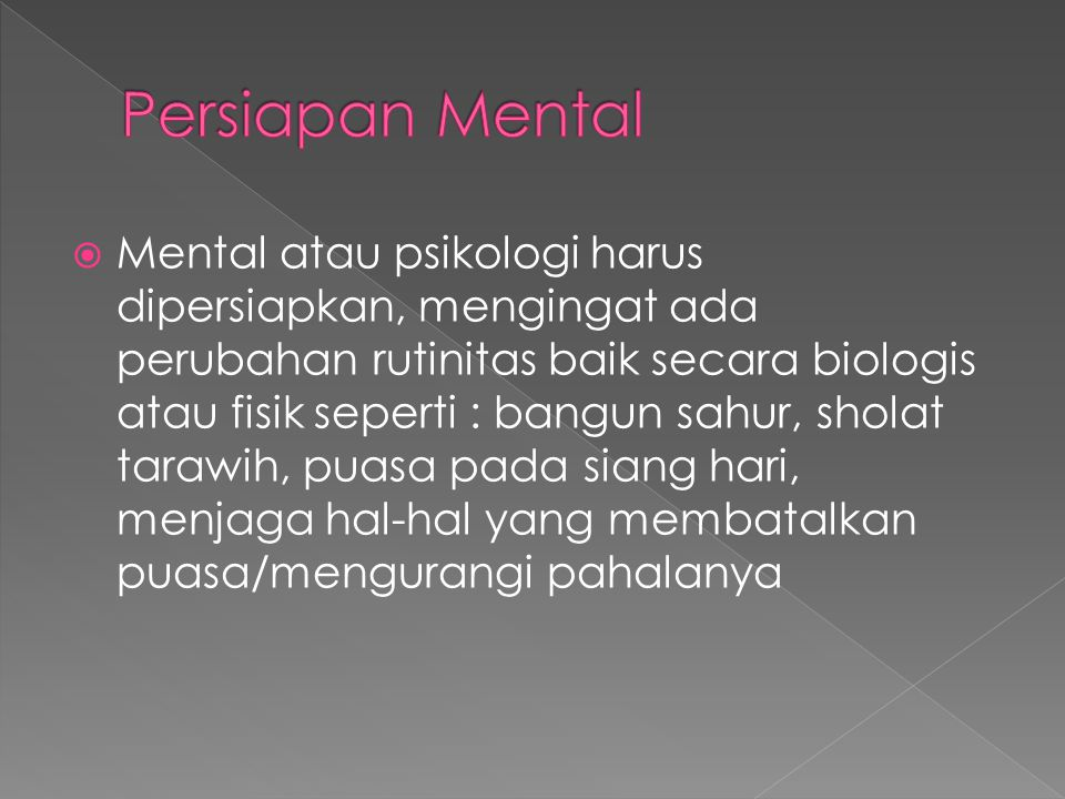 Persiapan Mental