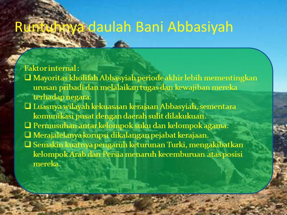 Runtuhnya daulah Bani Abbasiyah