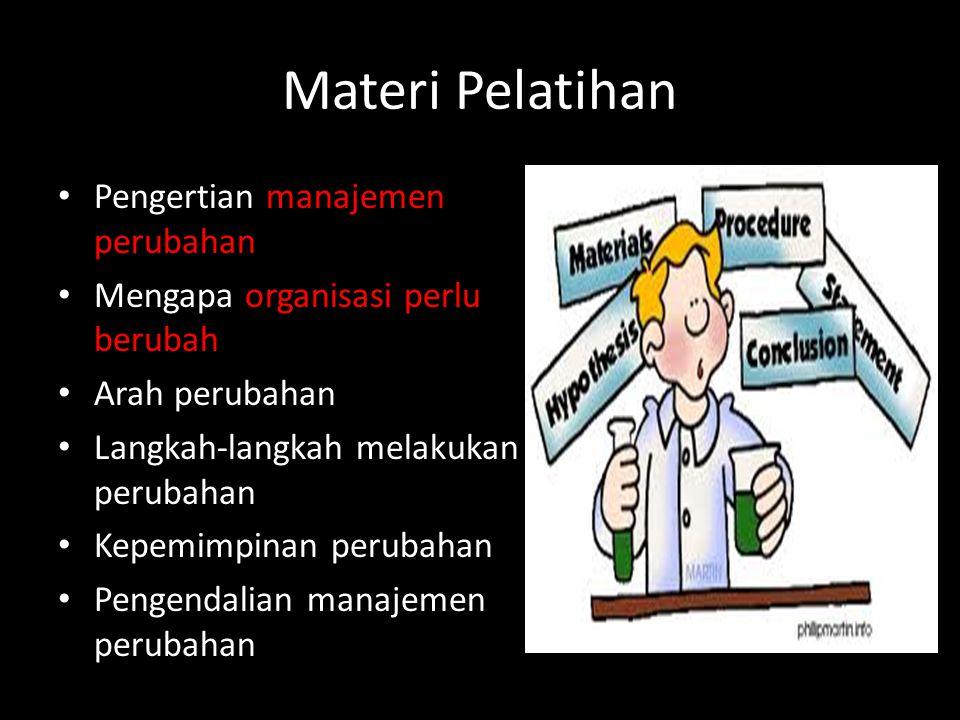 Materi Pelatihan Pengertian manajemen perubahan