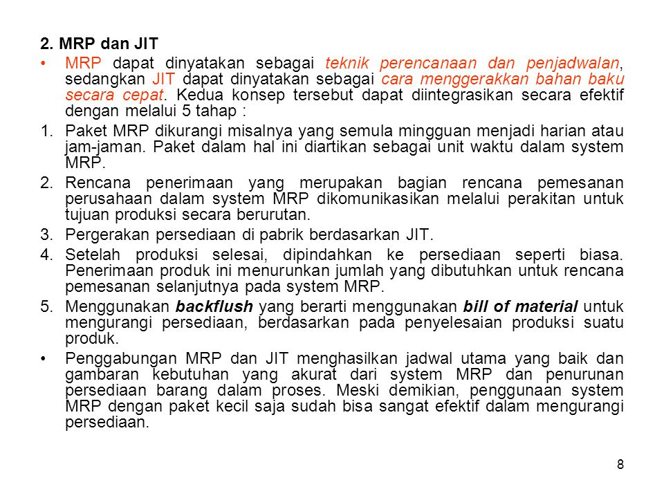 2. MRP dan JIT