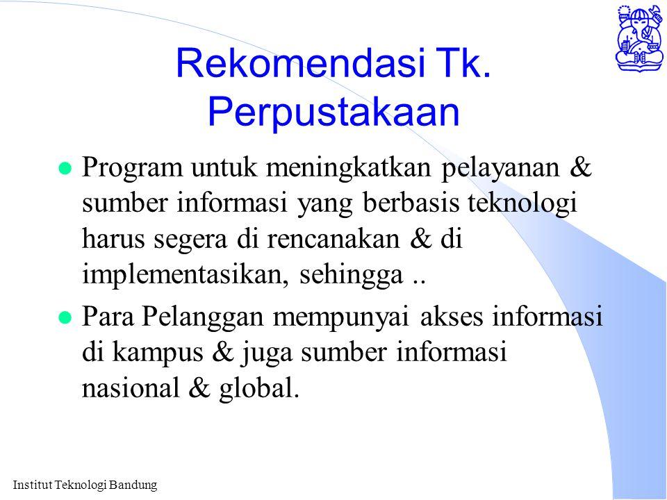 Rekomendasi Tk. Perpustakaan