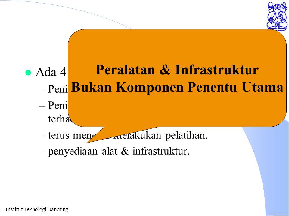 Peralatan & Infrastruktur Bukan Komponen Penentu Utama
