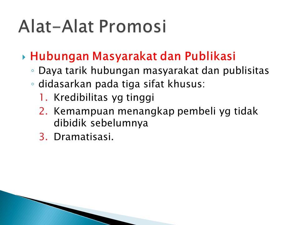Alat-Alat Promosi Hubungan Masyarakat dan Publikasi