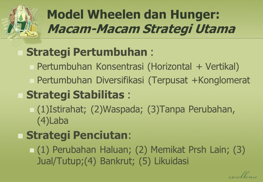 Model Wheelen dan Hunger: Macam-Macam Strategi Utama
