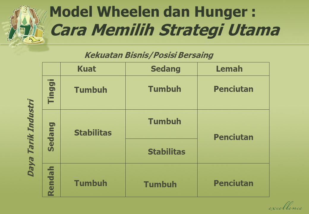 Model Wheelen dan Hunger : Cara Memilih Strategi Utama