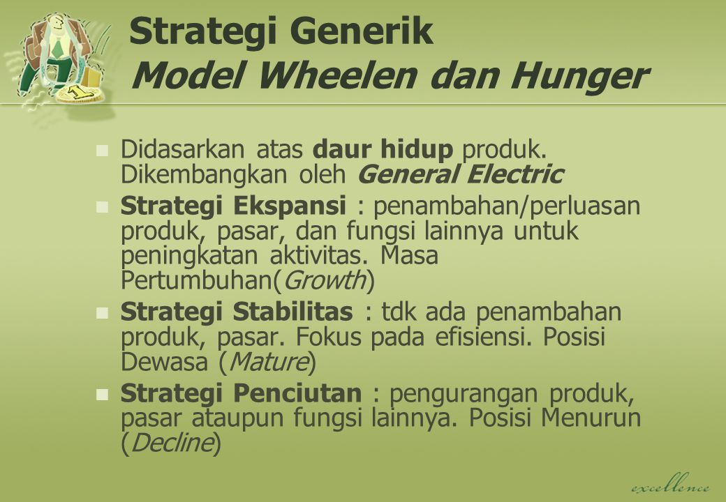 Strategi Generik Model Wheelen dan Hunger