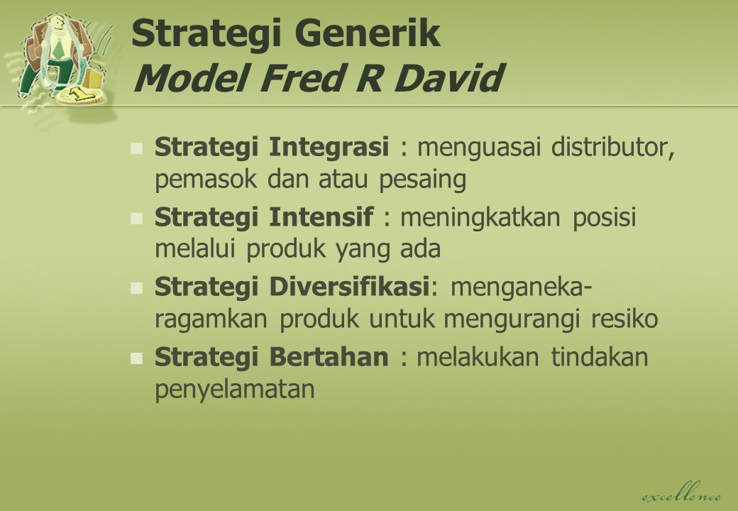 Strategi Generik Model Fred R David