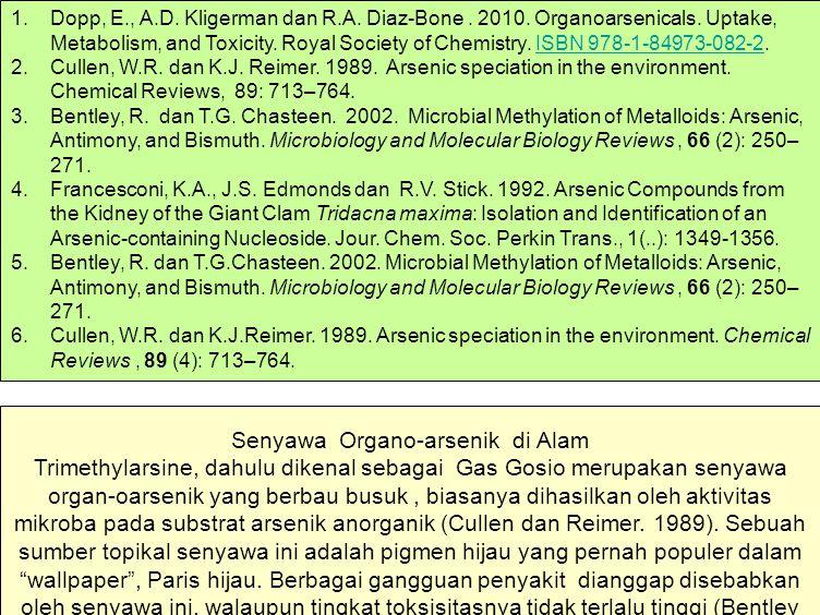 Dopp, E. , A. D. Kligerman dan R. A. Diaz-Bone. 2010. Organoarsenicals