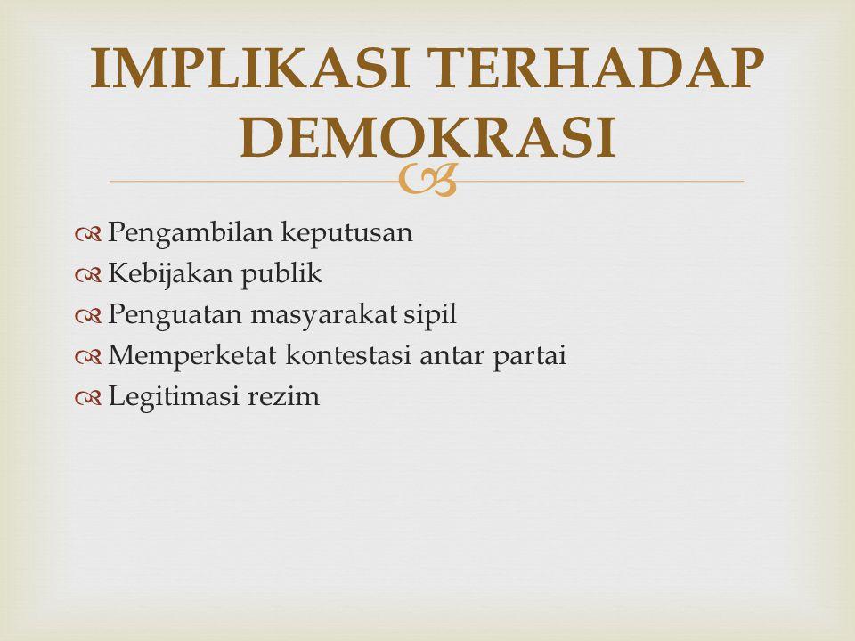 IMPLIKASI TERHADAP DEMOKRASI