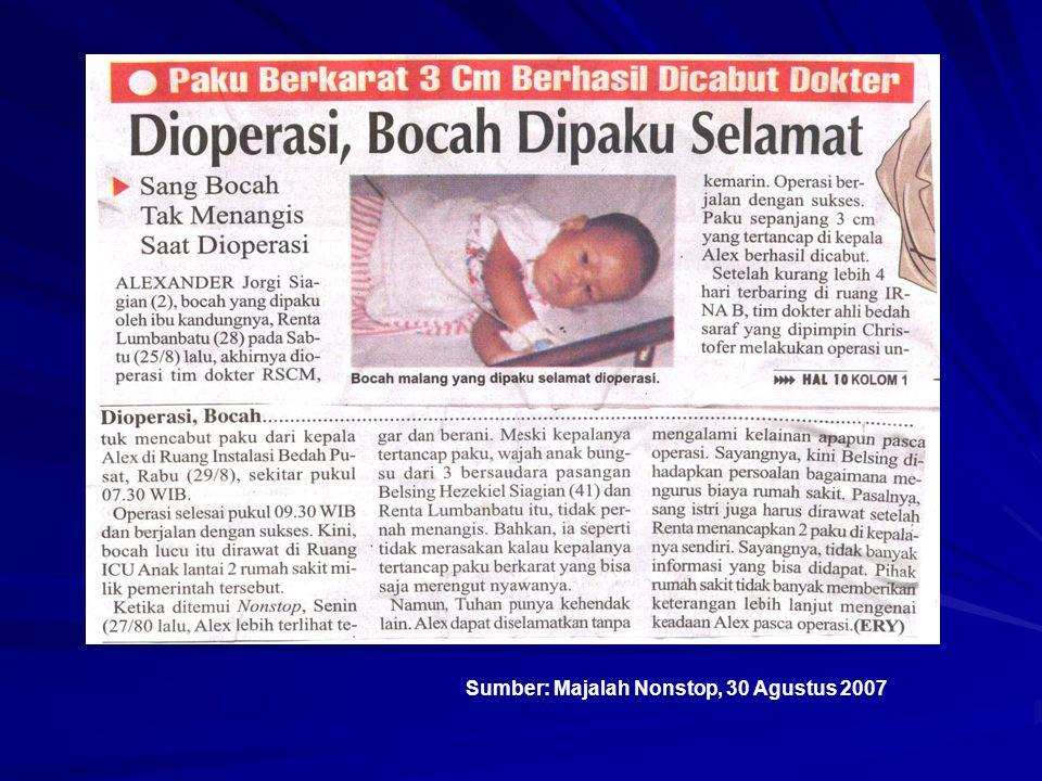 Sumber: Majalah Nonstop, 30 Agustus 2007