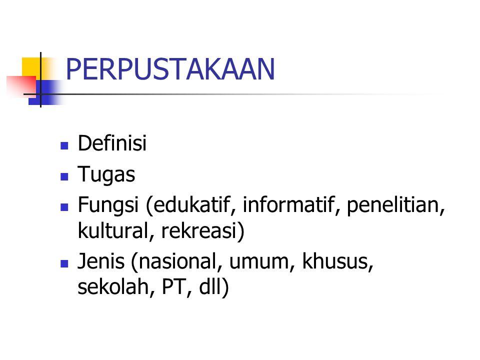 PERPUSTAKAAN Definisi Tugas