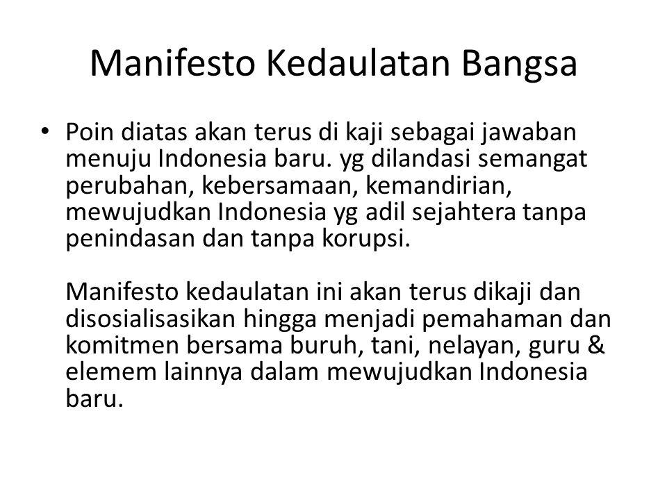 Manifesto Kedaulatan Bangsa