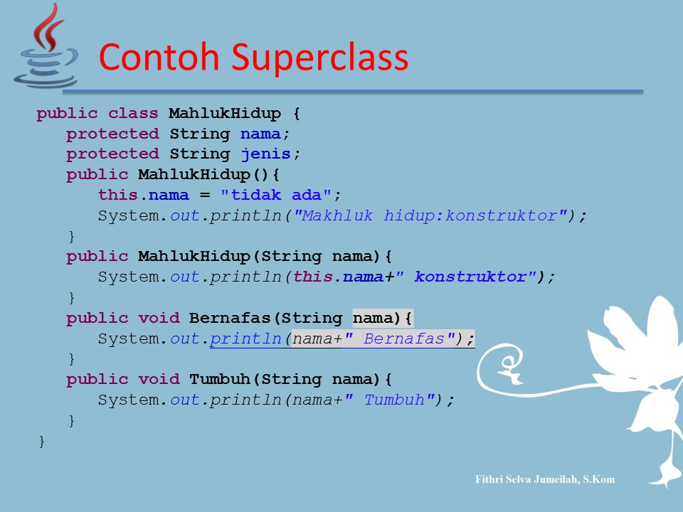 Contoh Superclass