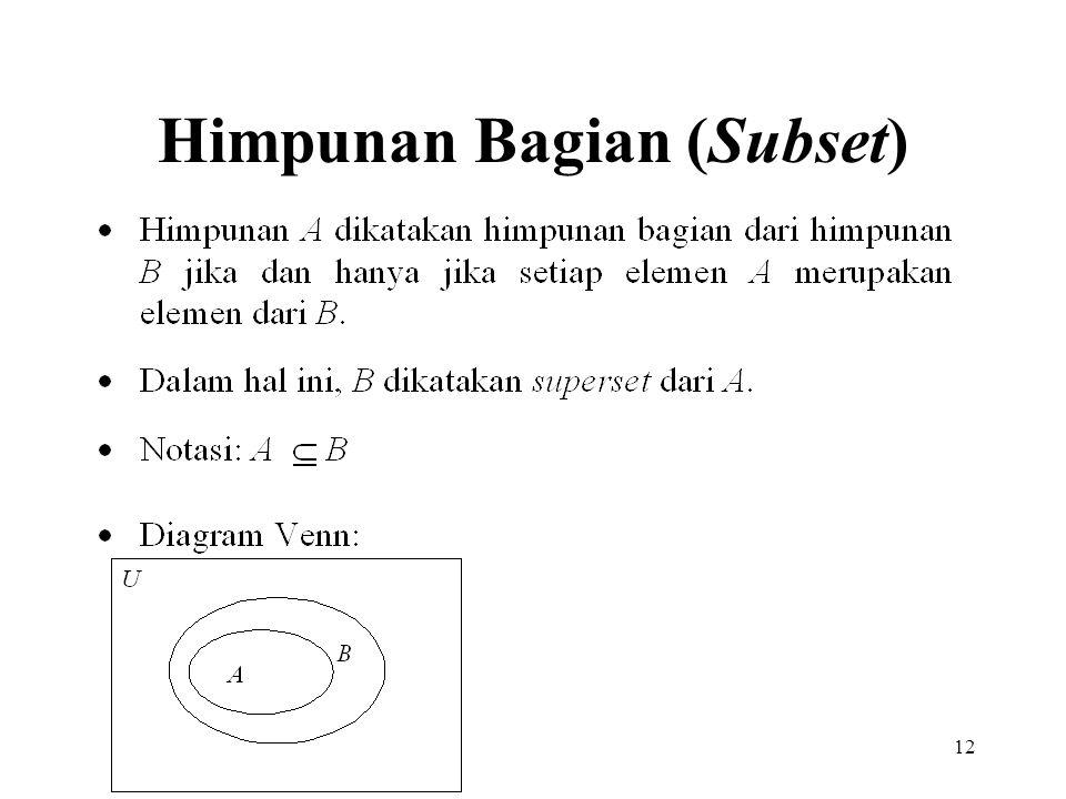 Himpunan Bagian (Subset)