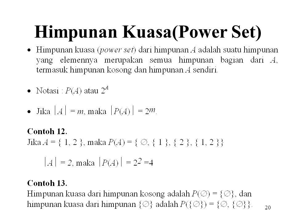 Himpunan Kuasa(Power Set)