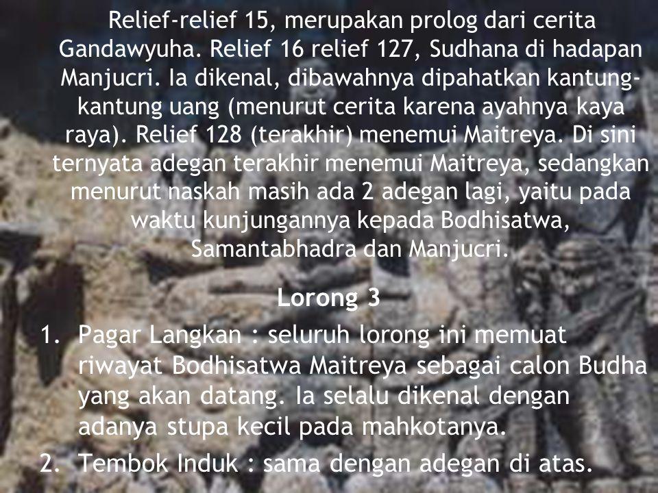 Relief-relief 15, merupakan prolog dari cerita Gandawyuha