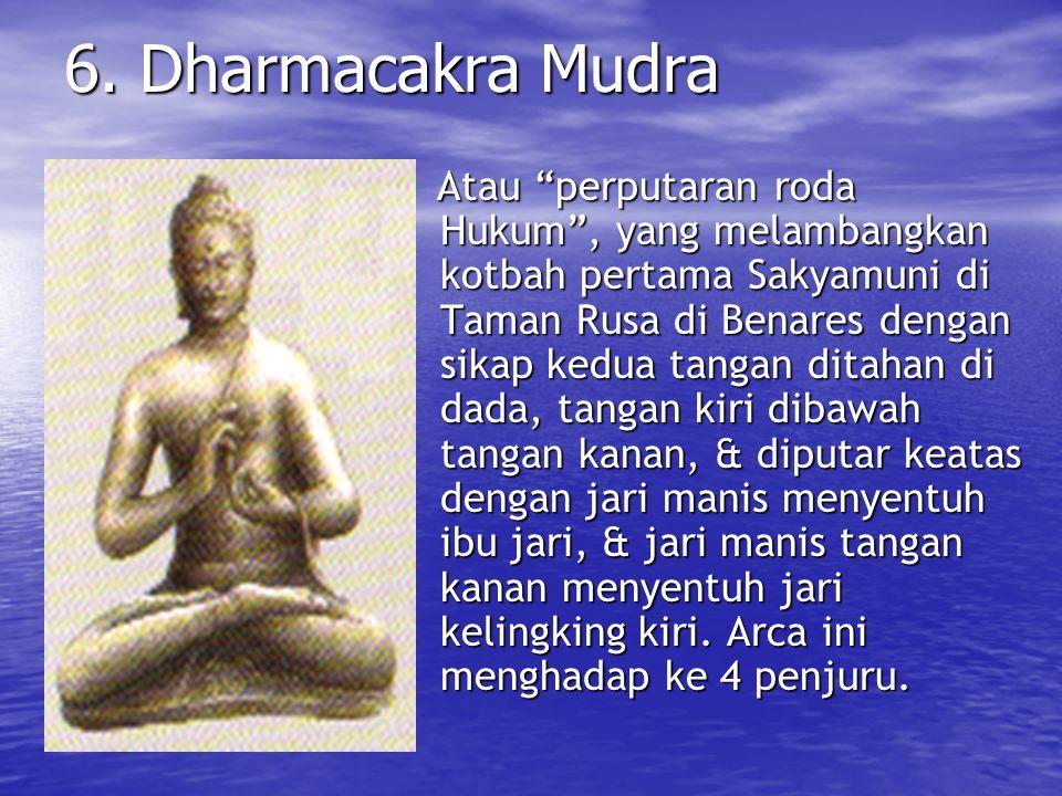 6. Dharmacakra Mudra