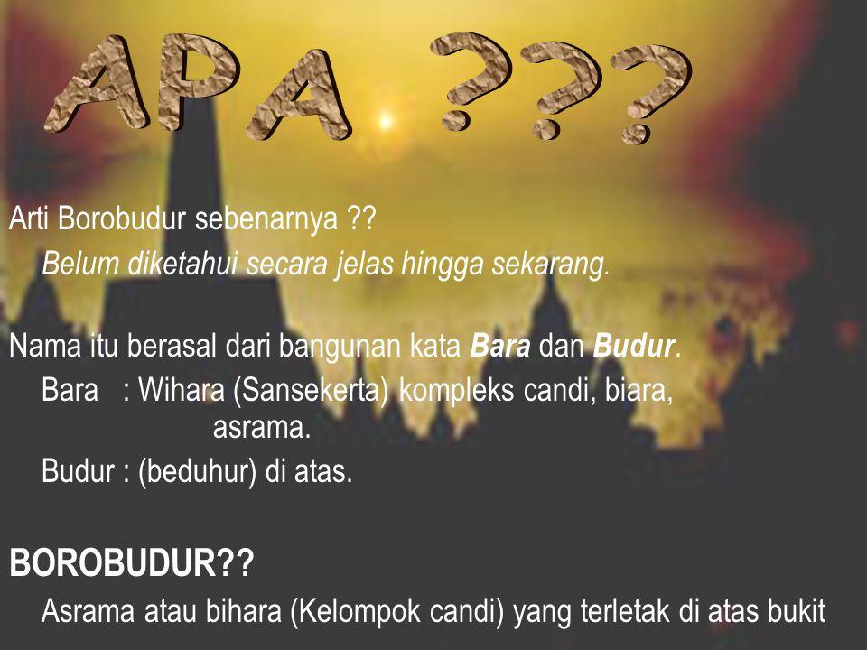 APA BOROBUDUR Arti Borobudur sebenarnya