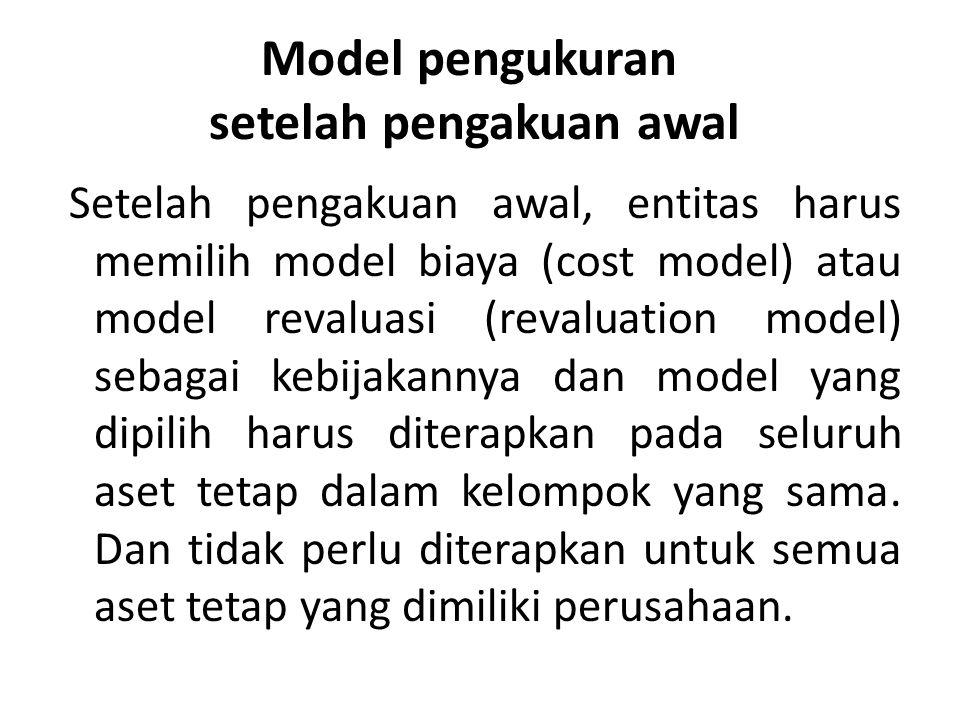 Model pengukuran setelah pengakuan awal
