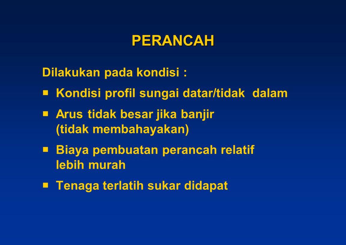 PERANCAH Dilakukan pada kondisi :