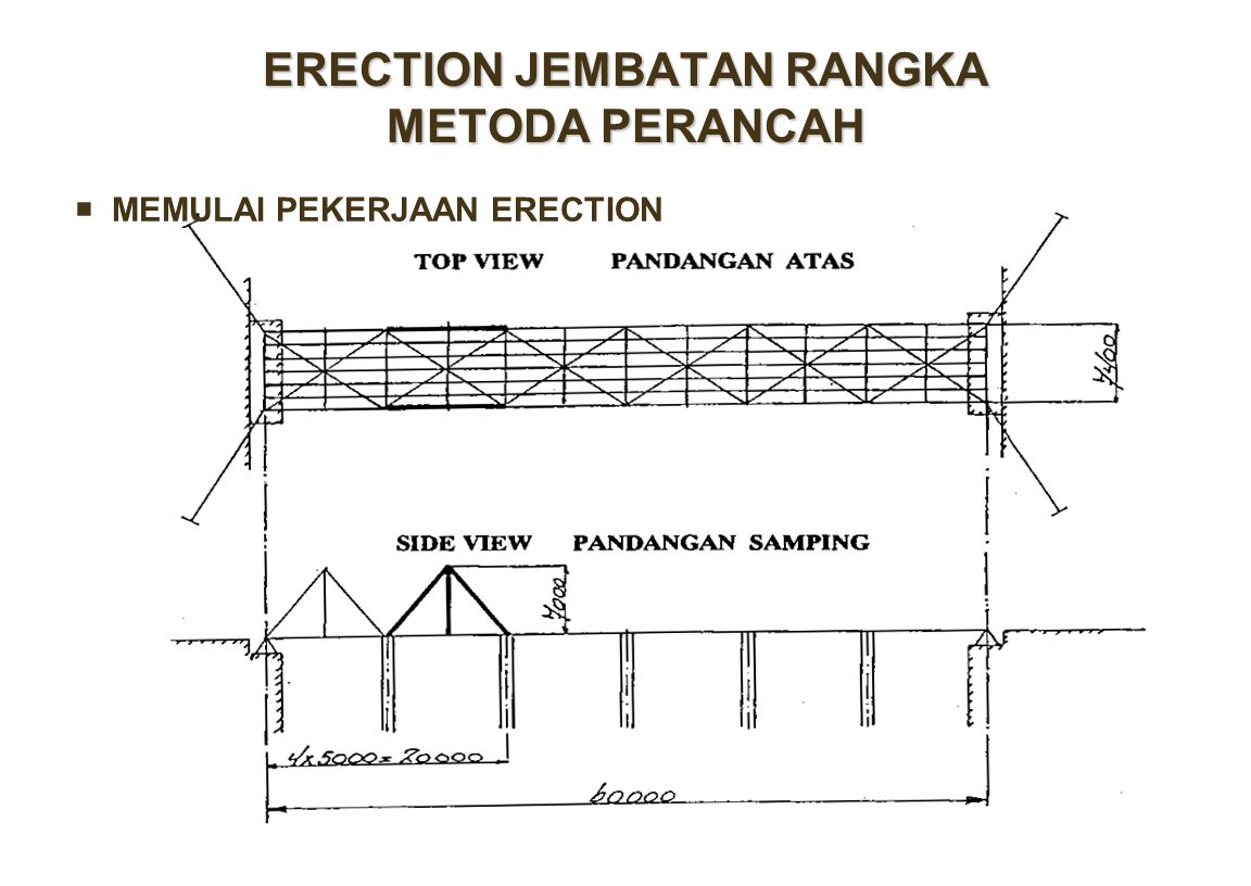 ERECTION JEMBATAN RANGKA METODA PERANCAH