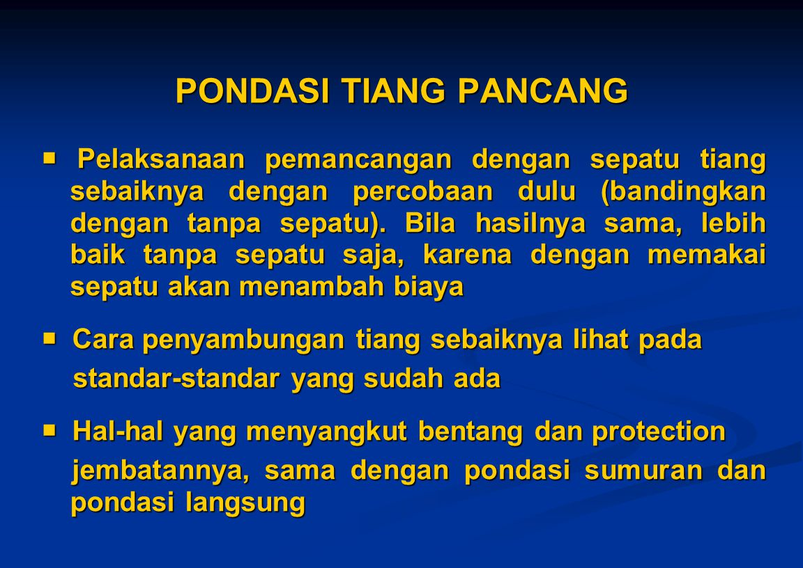 PONDASI TIANG PANCANG