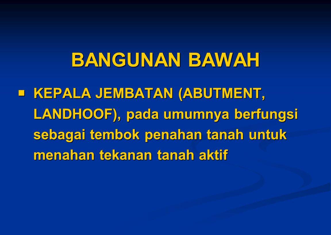 BANGUNAN BAWAH  KEPALA JEMBATAN (ABUTMENT,