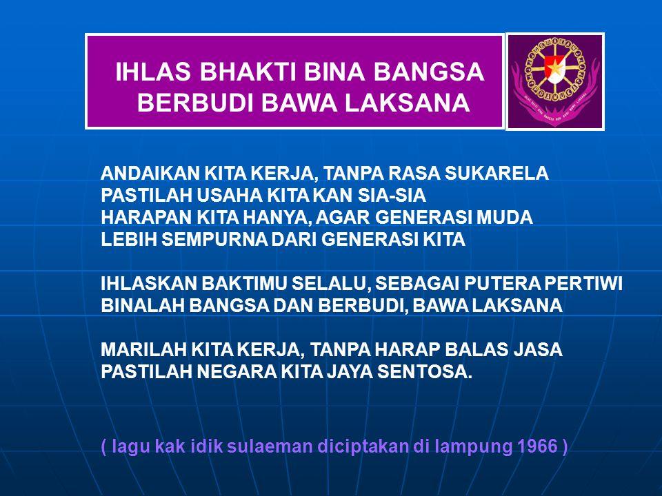 IHLAS BHAKTI BINA BANGSA BERBUDI BAWA LAKSANA