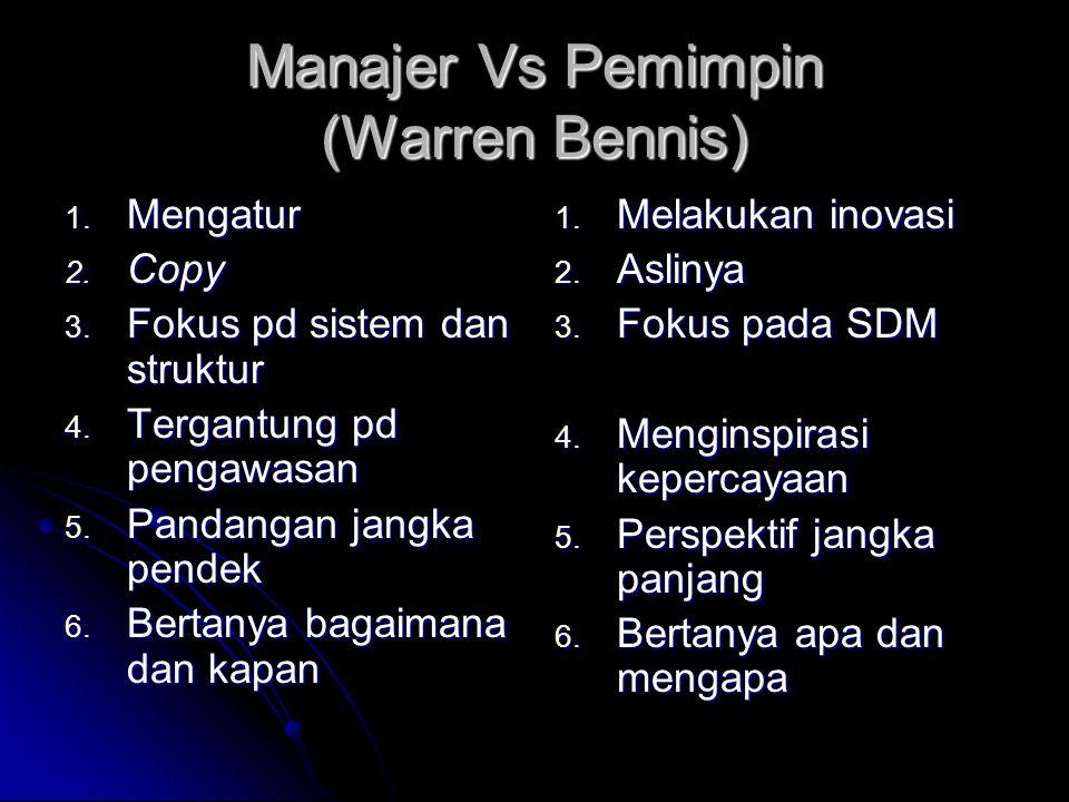Manajer Vs Pemimpin (Warren Bennis)